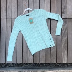 AMERICAN EAGLE OUTFITTERS Teal Crew Neck Sweater